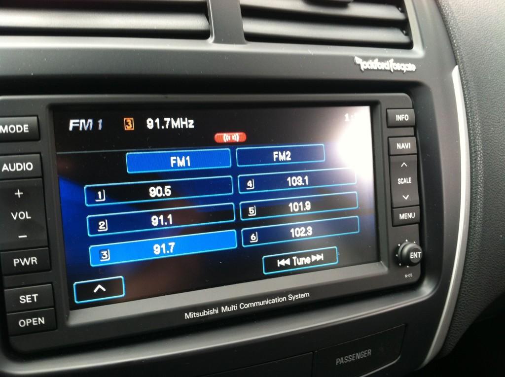 Mitsubishi Outlander Sport Radio
