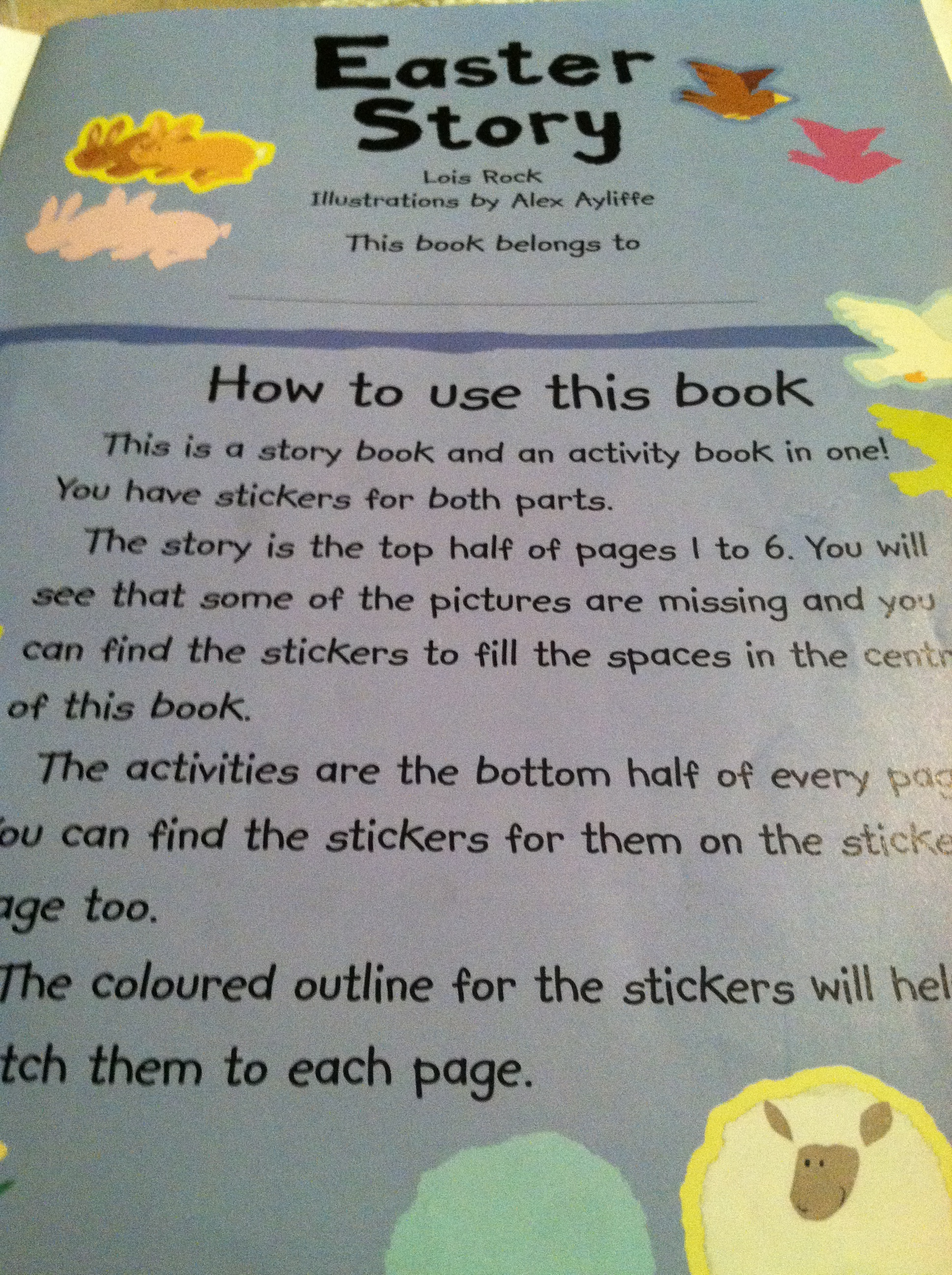 My Very First Easter Story Book How To