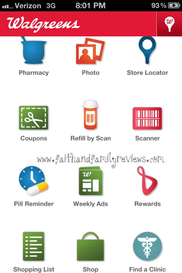 Walgreens App Home