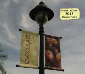 Long Grove Chocolate Festival Sign