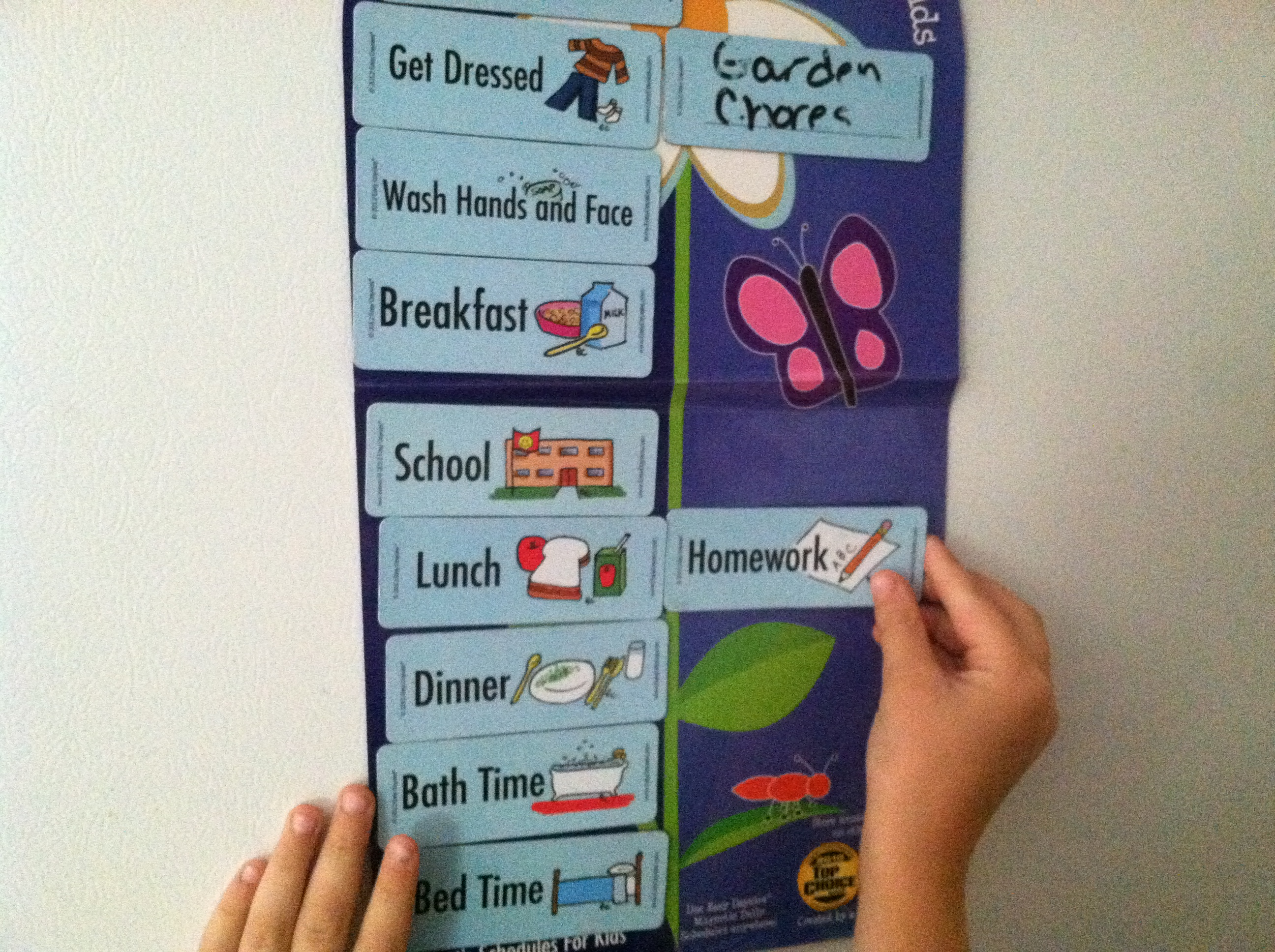 Magnetic Schedule for Kids 1