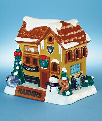 Raiders Collectible Holiday Houses