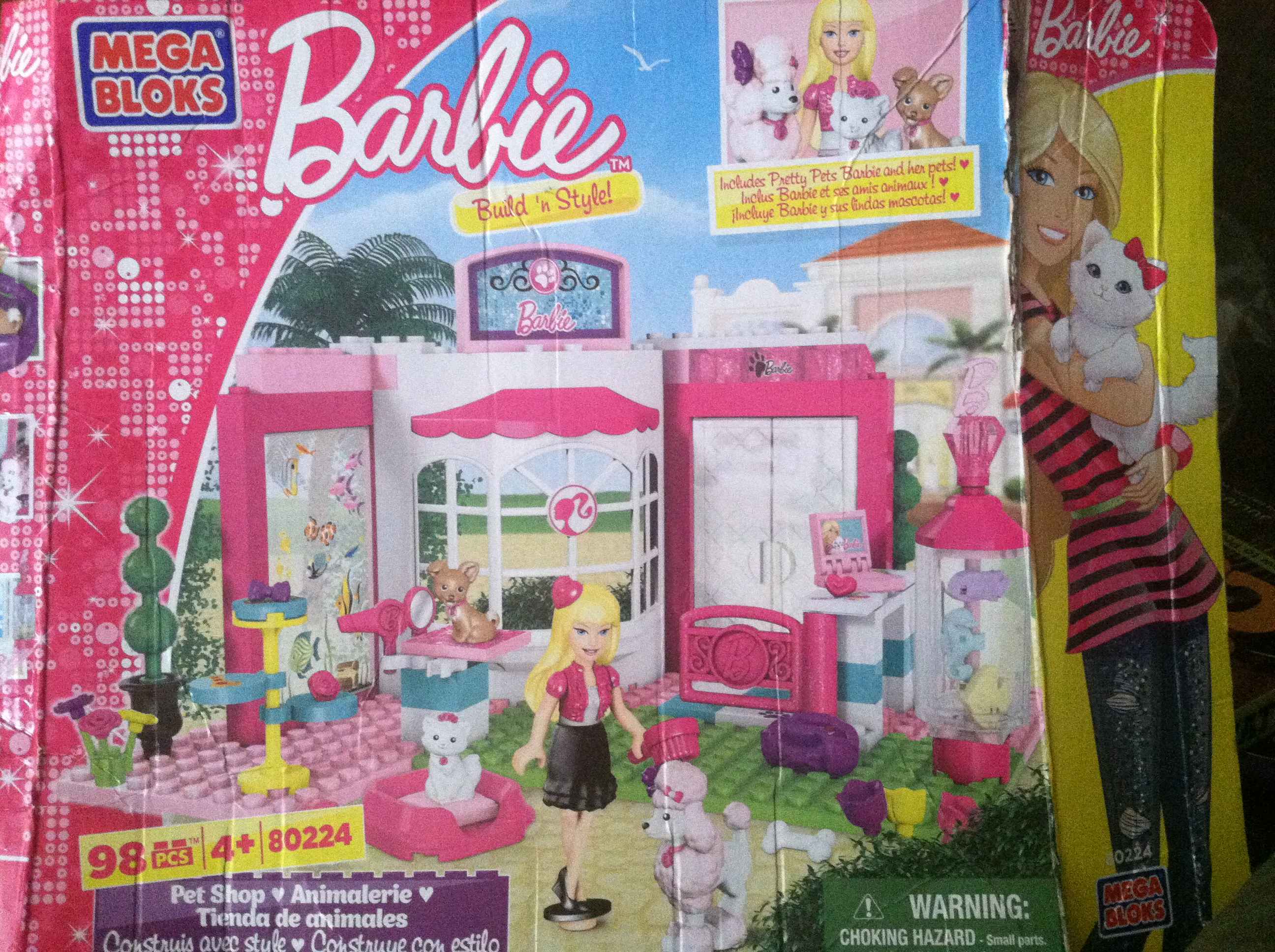 Mega Bloks Barbie Build 'n Style Pet Shop