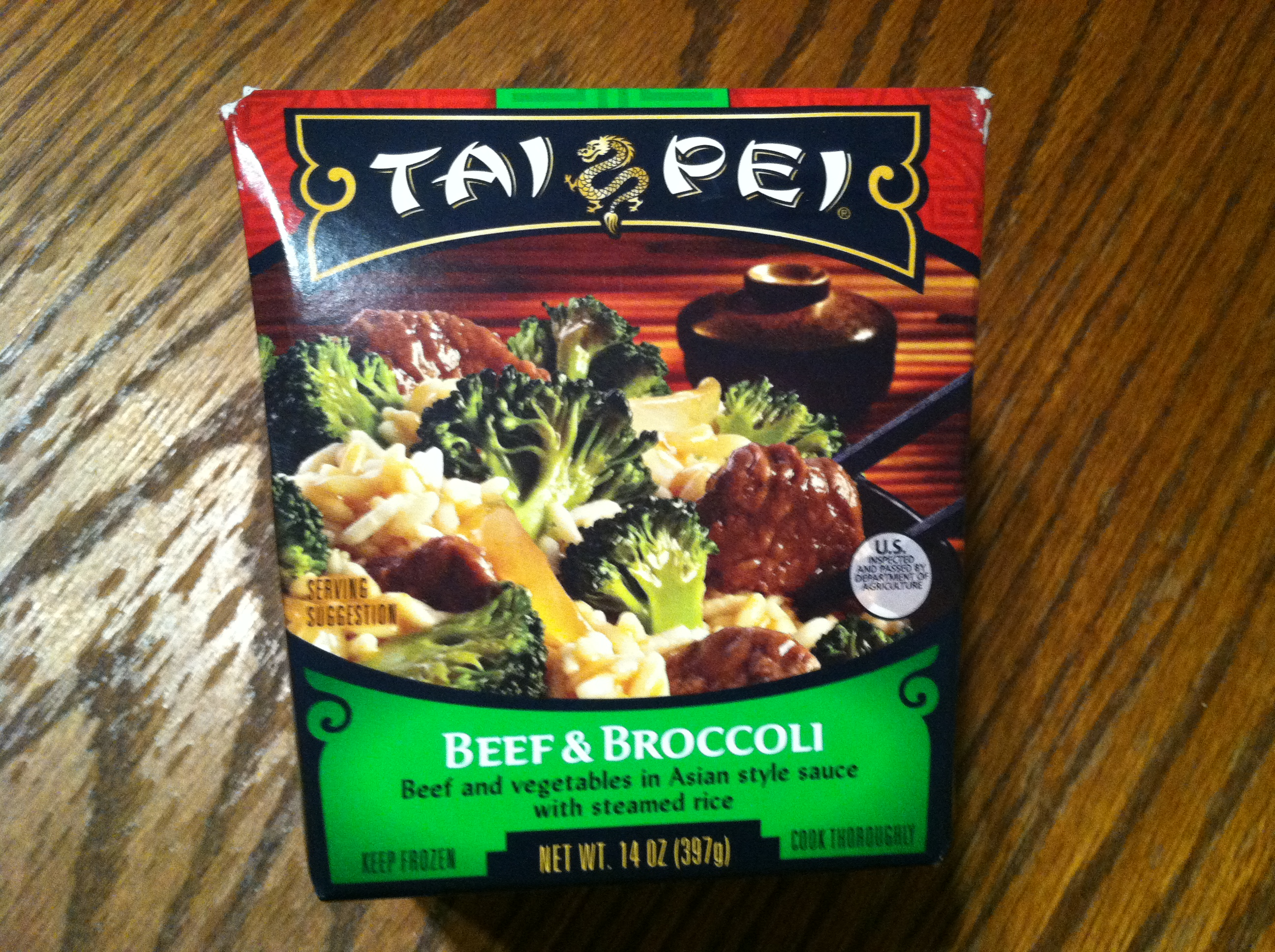 Tai Pei Beef and Broccoli box