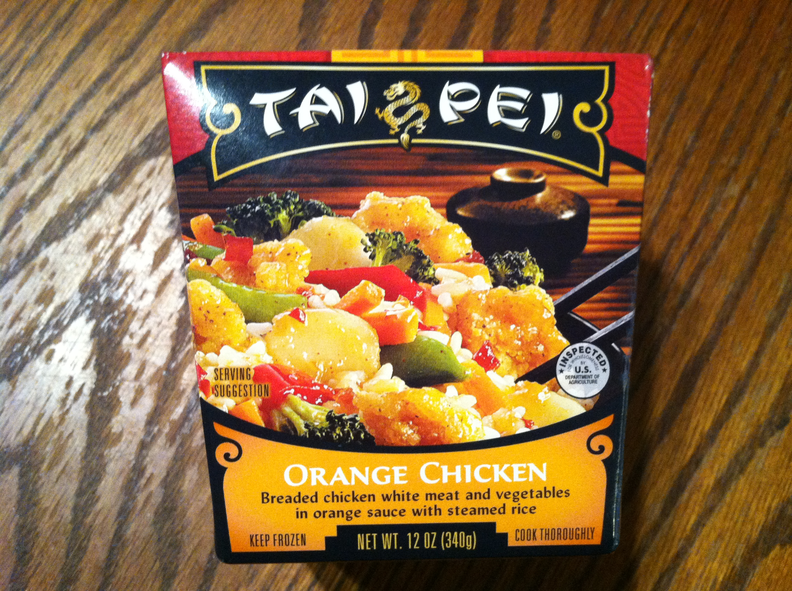 Tai Pei Orange Chicken box