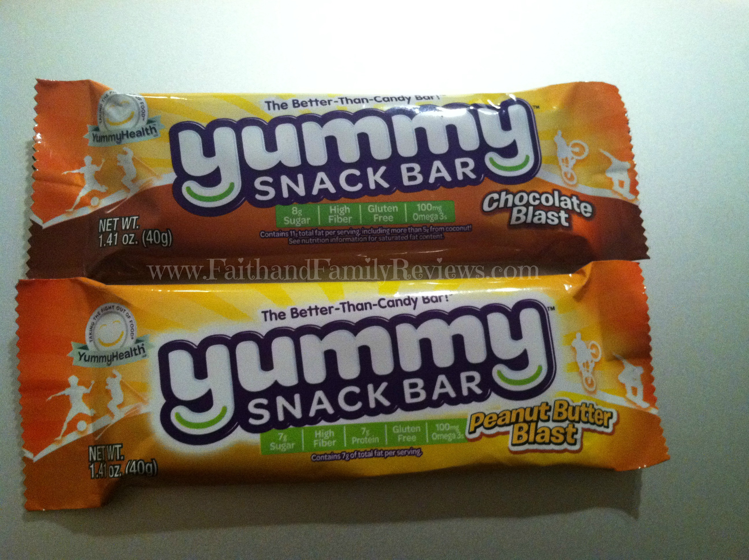Faith and family reviewsyummy swap snack bars faith and for Bar food yummy