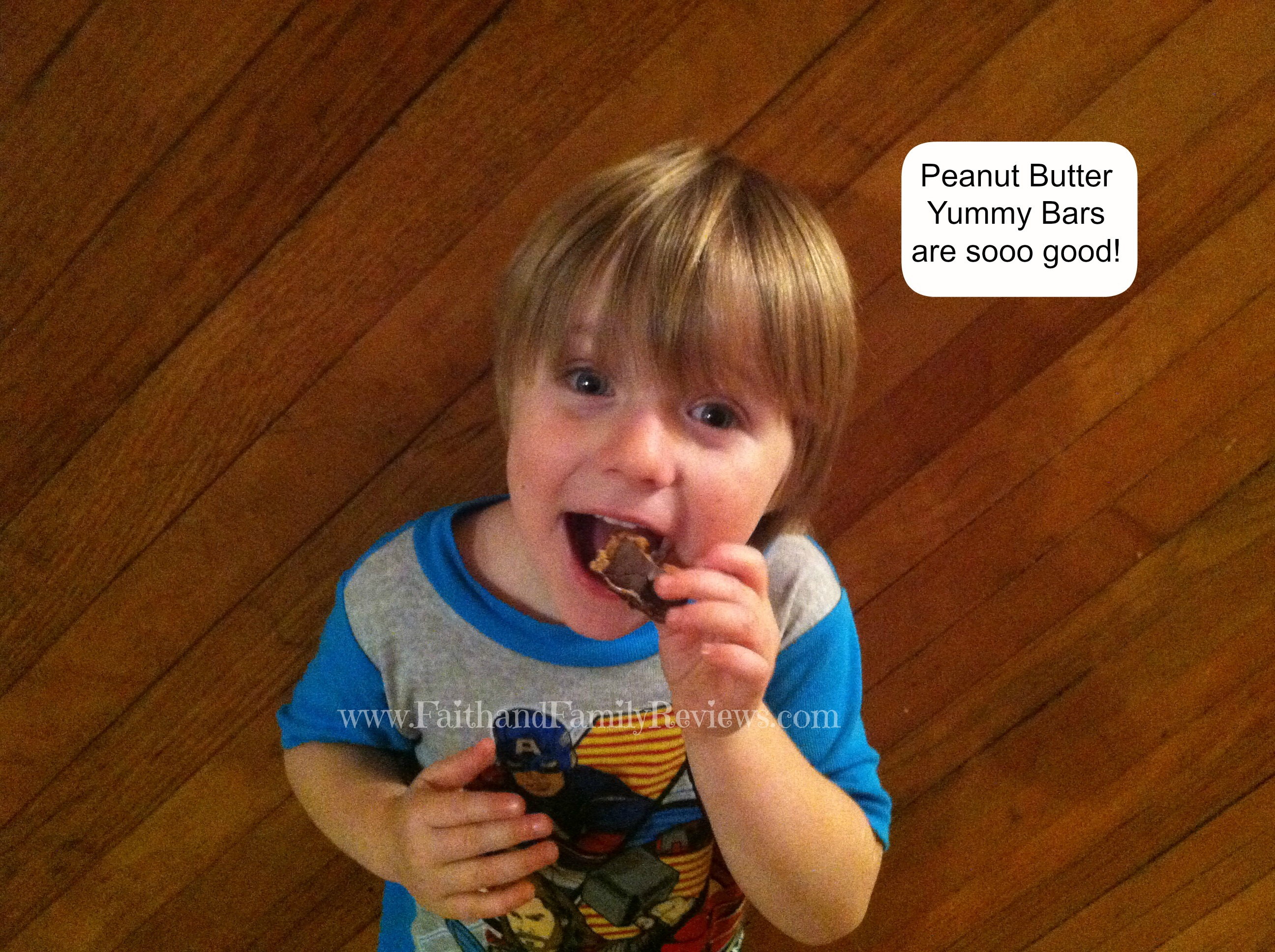 Jr. with Peanut Butter Blast Yummy Bar_