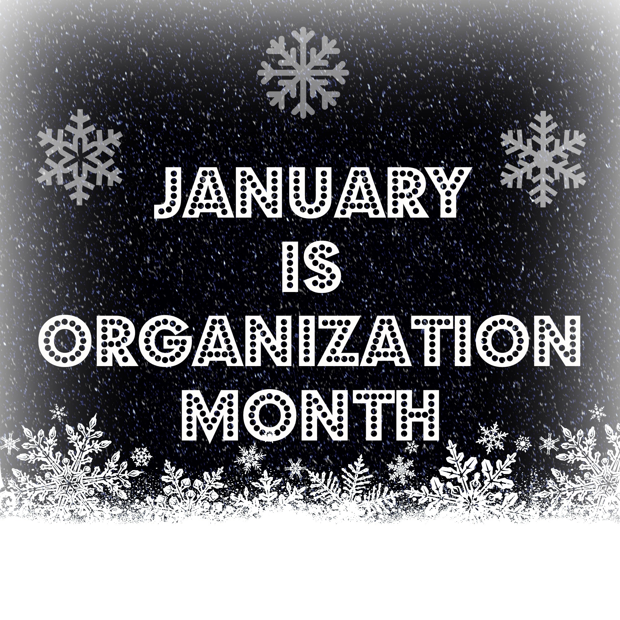 FFR January is Organizational Month