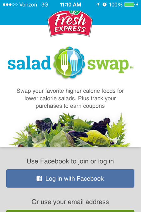 Fresh Express Salad Swap App 1