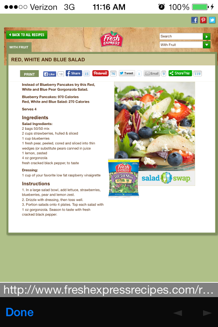 Fresh Express Salad Swap App 4