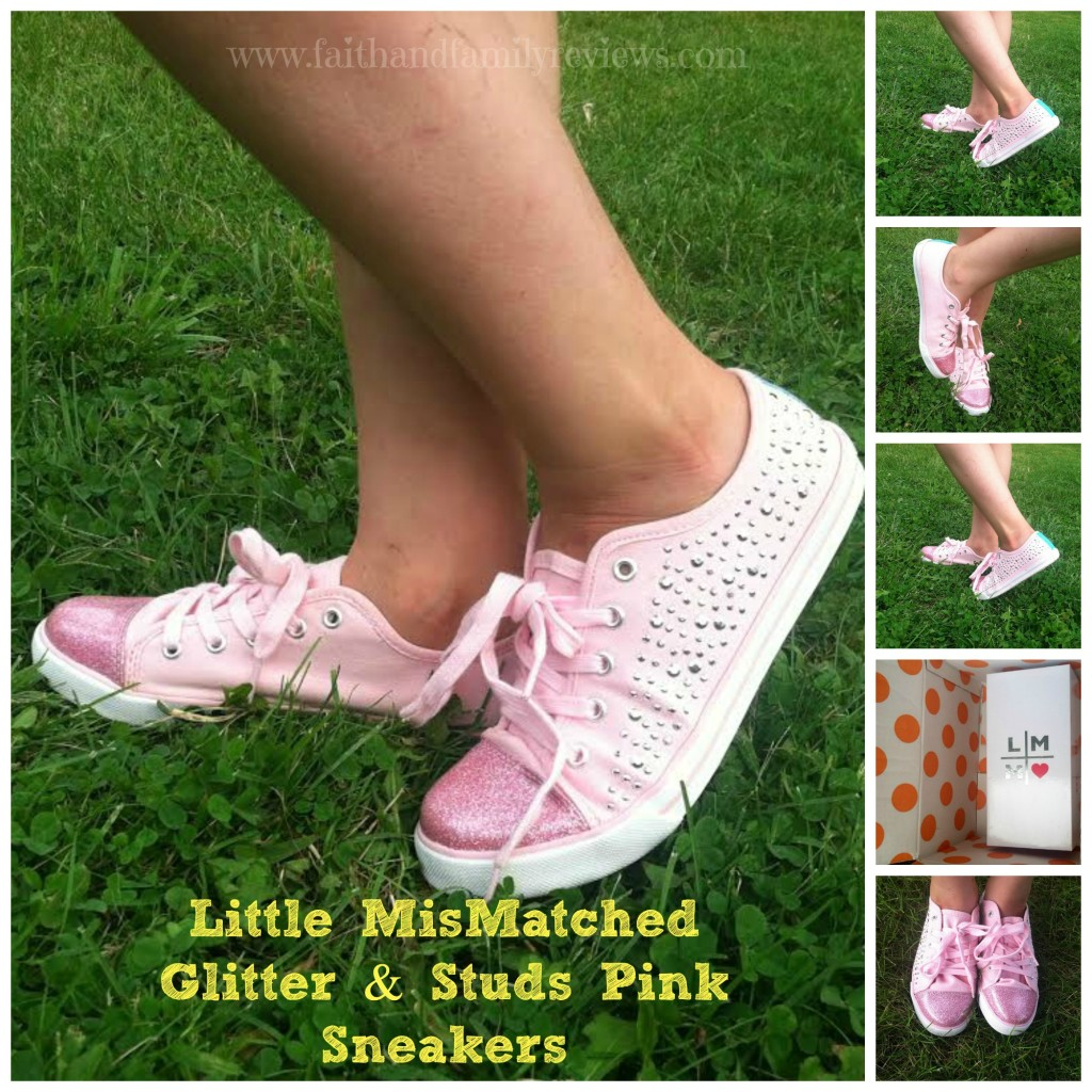FFR Little MisMatched Glitter & Studs Pink  Sneakers_ Collage